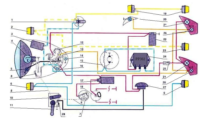 схема проводки 6 вольт мотоцикла иж юпитер 3